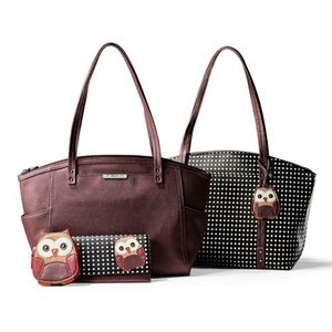 Relic Owl Love Tote (Pin Dots)
